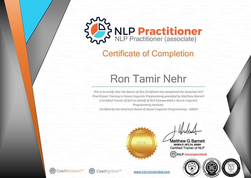 Ron-Tamir-Nehr-NLP-certificate