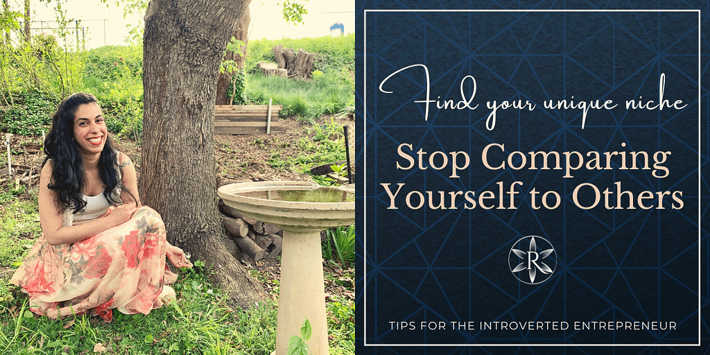 Stop comparing yourself to others find your niche